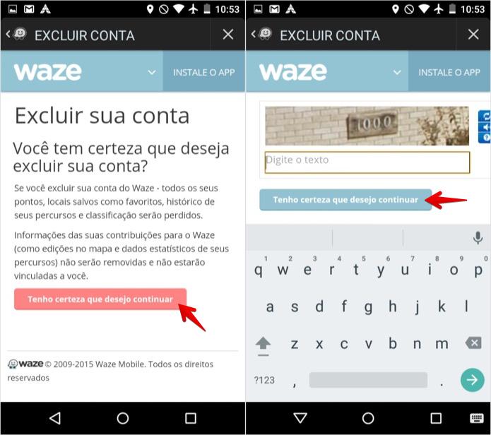 Excluindo conta do Waze (Foto: Reprodução/Helito Bijora)