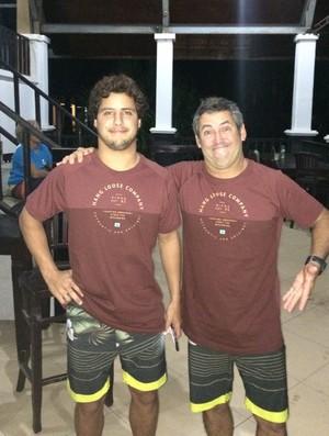 Filho de peixe: Ian e Fabinho Gouveia (Foto: Arquivo pessoal Fábio Gouveia)