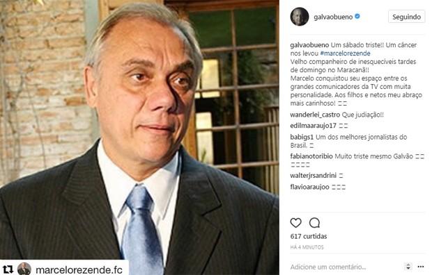 Galvão Bueno homenageia (Foto: Reprodução / Instagram)