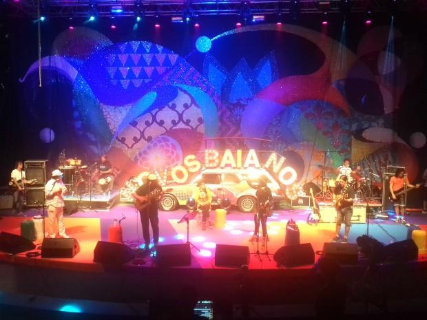 G1 acompanhou a passagem de som dos Novos Baianos, na noite de sexta (10) (Foto: Gabriel Gonçalves/G1 Bahia)