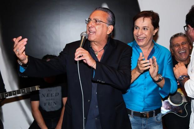 Galvão Bueno e Tom Cavalcante (Foto: Manuela Scarpa / Brazil News)