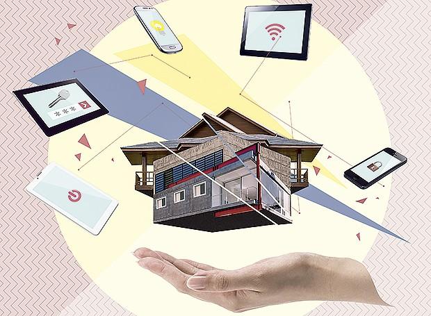 Sistemas de automação facilitam a vida em casa (Foto:  Ilustração Yumi Shimada/Editora Globo)