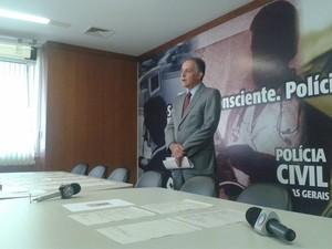 Delegado-chefe de Uberlândia, Samuel Barreto (Foto: Caroline Aleixo/G1)