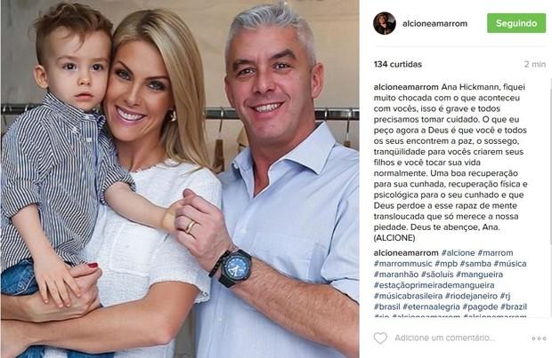 Alcione se pronuncia sobre caso de Ana Hickmann (Foto: Reprodução/Instagram)