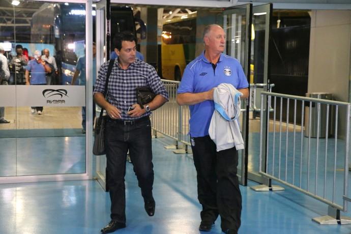 Diretor Rui Costa e Felipão Grêmio (Foto: Eduardo Moura/Globoesporte.com)