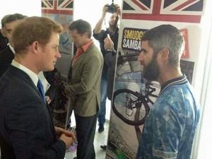 Andy Smtih conheceu o Príncipe Harry durante sua viagem pelo Brasil (Foto: Andy Smith/Arquivo Pessoal)