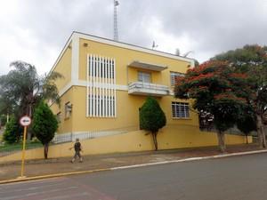 Fachada do prédio da Prefeitura de Rio das Pedras (SP) (Foto: Cibele Mussin / Prefeitura de Rio das Pedras)
