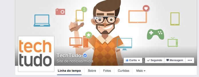 facebook techtudo (Foto: O TechTudo tem a página verificada (Foto: Reprodução/Gabriella Barreira))