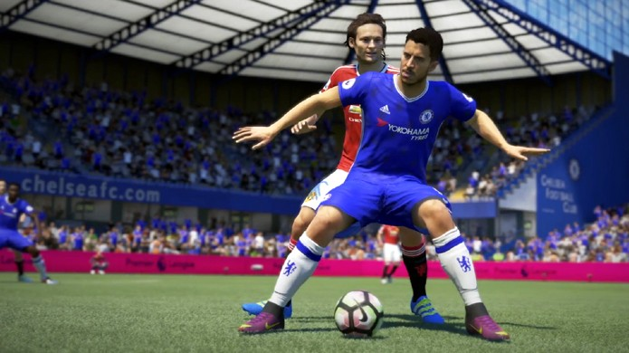 Fifa 17 ganha novo elemento de jogo de corpo demonstrado por Eden Hazard (Foto: Reprodução/YouTube)