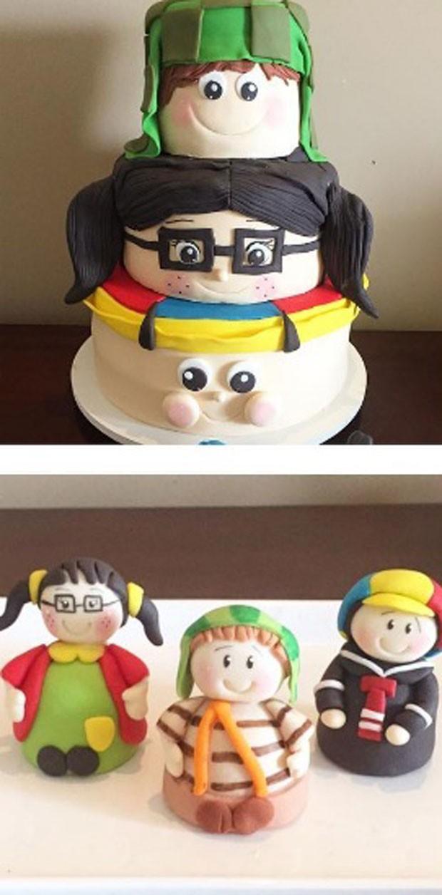 """O bolo e os docinhos inspirados no seriado """"Chaves"""" (Foto: Reprodução Instagram)"""