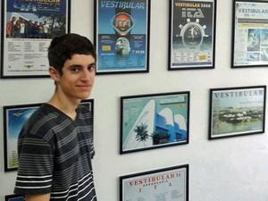 Felipe Alex Hofmann, de 18 anos, tinha sido aprovado no ITA (Foto: Arquivo pessoal/Felipe Alex Hofmann)