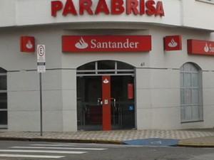 Banco Santander em São João da Boa Vista (Foto: Josimar Ignácio Figueiredo/Arquivo Pessoal)