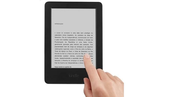 Novo Kindle da Amazon conta com tela touchScreen (Foto: Reprodução/Amazon)