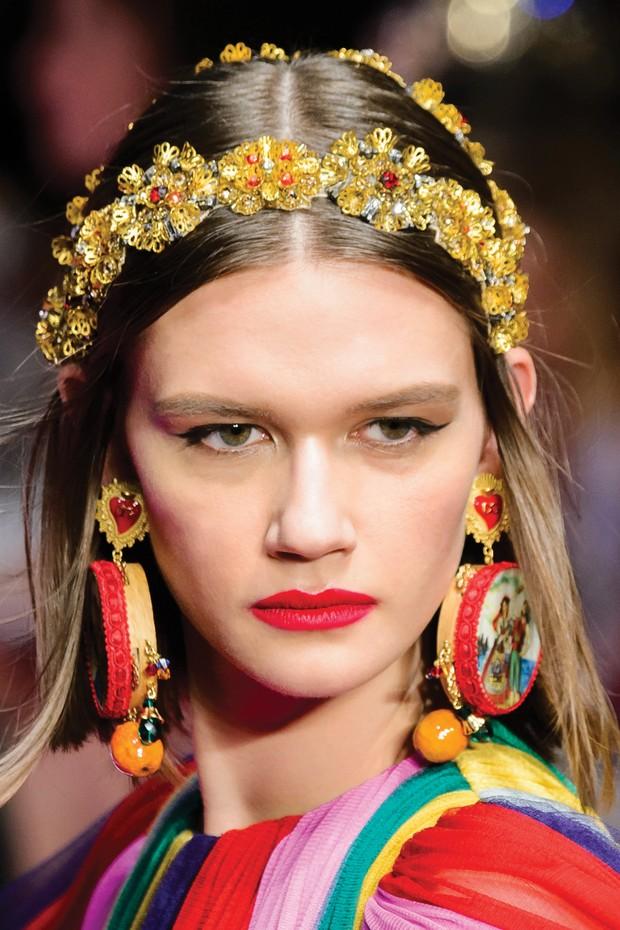 Dolce & Gabbana/verão 2018 (Foto:  Alberto E. Rodriguez, Frederick M. Brown e Pascal Le Segretain / Getty Images, Imaxtree e Divulgação)