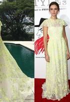 Vestido de Marina Ruy Barbosa já foi usado por atriz polonesa; compare!