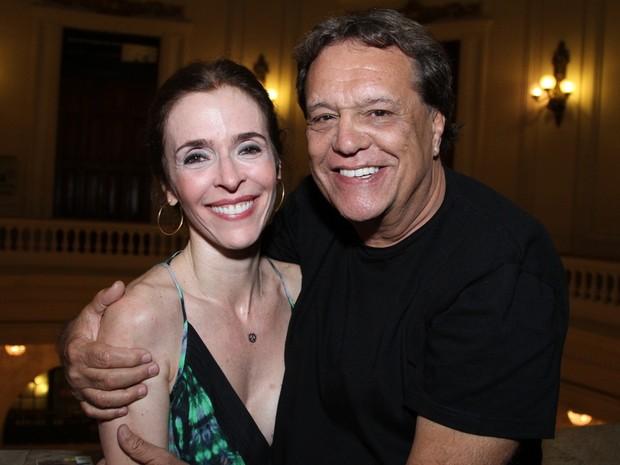 Dennis Carvalho e Deborah Evelyn em estreia de peça no Centro do Rio (Foto: Anderson Borde/ Ag. News)