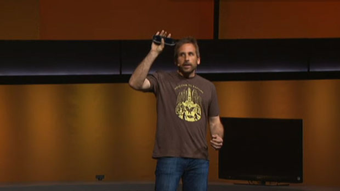 Ken Levine esteve no palco, no lançamento do PS Vita, para anunciar um BioShock exclusivo do console portátil (Foto: Reprodução/YouTube)