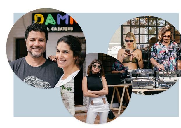 Da esquerda para a direita: Alexandre Pernet e Leticia Veloso, Fernanda Paes Leme e Guta Virtuoso e Marcel Mangione (Foto: Arte Vogue Online)