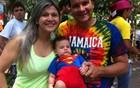 Bebê de três meses tem primeiro baile (Diana Vasconcelos/G1 Ceará)