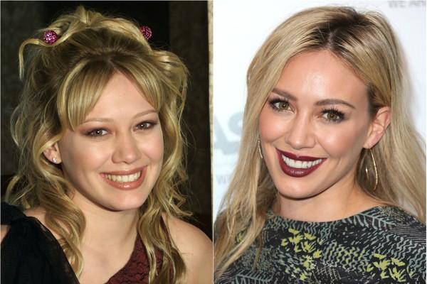 Hilary Duff será para sempre a fofa Lizzie McGuire, do seriado que fez aos 14 anos de idade. Hoje, com 26, ela não tem mais o rosto de criança e já é mãe de um menino (Foto: Getty Images)