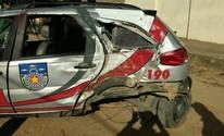 Militares da 3ª Cia de Paripueira ficam feridos após capotamento de viatura (Arquivo Pessoal)