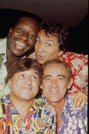 Mussum, Dedé, Zacarias e Didi formavam o quarteto de Os Trapalhões (Foto: Acervo Globo)