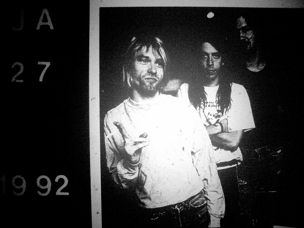 Kurt Cobain, Dave Grohl e Krist Novoselic em 1992 (Foto: Flickr/davetoaster)
