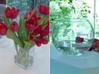 Designer de flores ensina a fazer dois arranjos com rosas vermelhas e tulipas