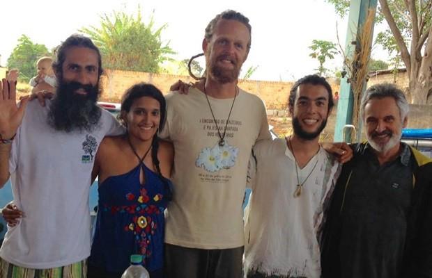 Professor Sat, Laryssa, Ivan Anjo, Yuji e Luiz Paulo integram mandato coletivo, em Alto Paraíso de Goiás (Foto: Reprodução/Facebook)