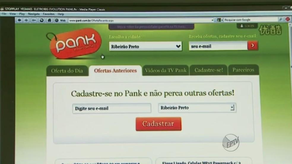 Site Pank (Foto: Reprodução)