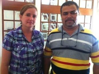 Casal de médicos cubanos vai trabalhar em Mato Grosso (Foto: Pollyana Araújo/ G1)