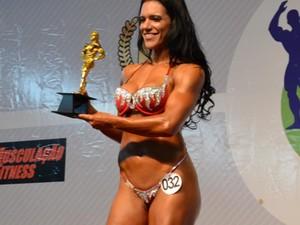 Fabiana Caggiano era campeã de fisiculturismo (Foto: Reprodução/Facebook)