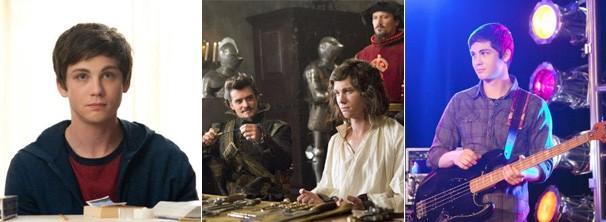 Logan Lerman nos filmes 'Os Três Mosqueteiros', 'As Vantagens de Ser Invisível' e 'Ligados Pelo Amor' (Foto: divulgação / reprodução)