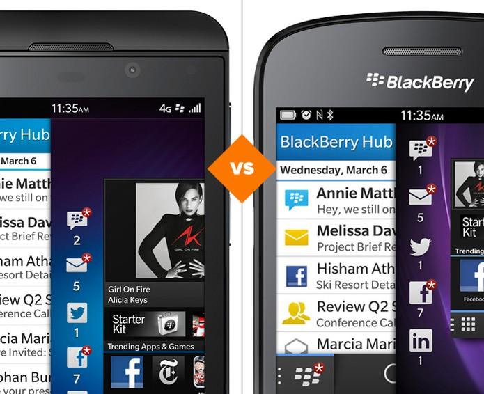BlackBerry Z10 ou BlackBerry Q10? Confira as diferenças entre os