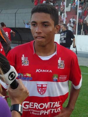 Leandro Soares foi o artilheiro do CRB no Alagoano sub-17 (Foto: Henrique Pereira/ GloboEsporte.com)