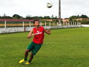Meia Eloir volta ao Sampaio Corrêa após lesão muscular (Foto: Divulgação/Site do Sampaio)