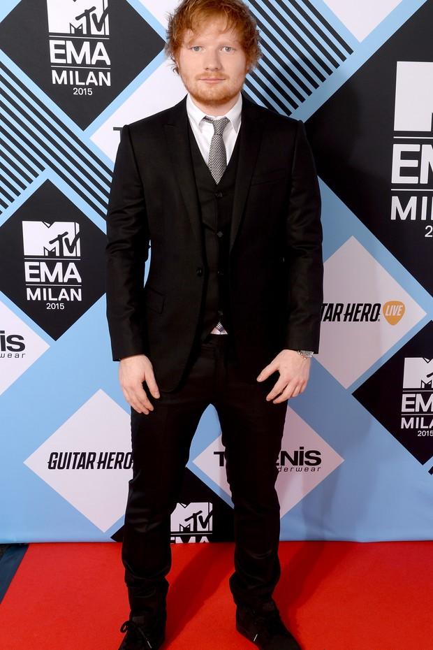 Ed Sheeran no MTV Europe Music Awards 2015 (Foto: Getty Images)