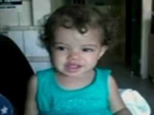 Maria Luíza morreu com 1 ano e três meses de idade em Porangatu, Goiás (Foto: Reprodução/ TV Anhanguera)