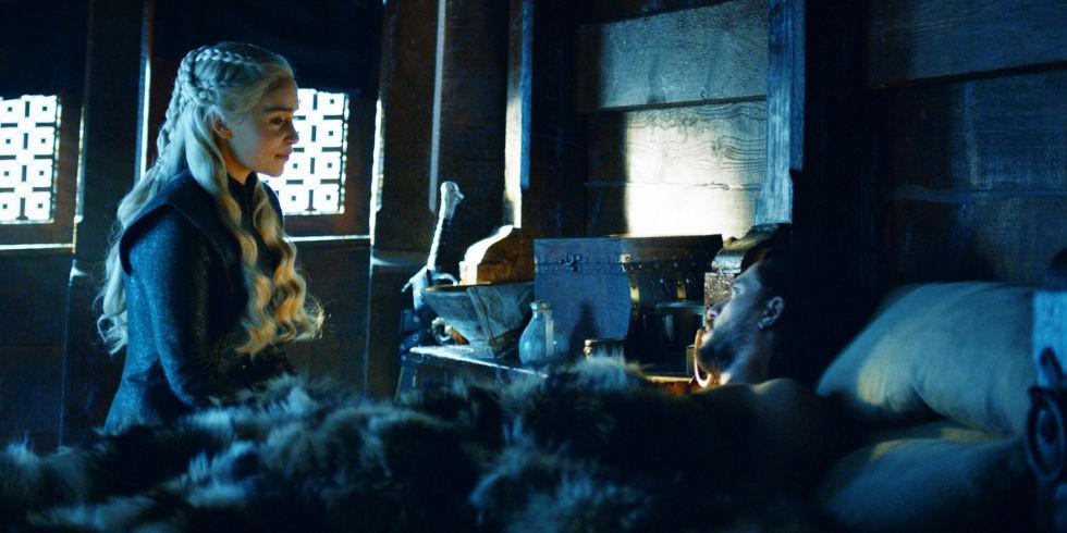 Daenerys e Jon em Game of Thrones (Foto: Divulgação)