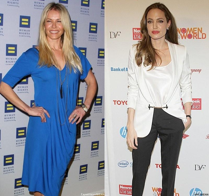 Chelsea Handler x Angelina Jolie (Foto: Divulgação)