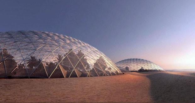 Emirados Árabes criam cidade que simula superfície de Marte (Foto: Divulgação)