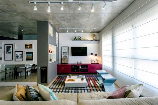 Apartamento colorido (Foto: Gustavo Awad/Divulga��o)