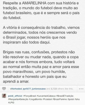 brasil alemanha podolski (Foto: Reprodução / Instagram)