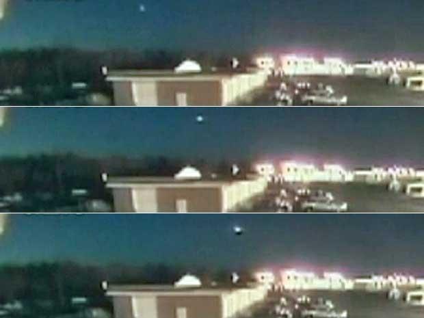 Bola de fogo pode ser meteorito que se desintegrou na atmosfera da Terra, diz Nasa. (Foto: Reprodução / Globo News)