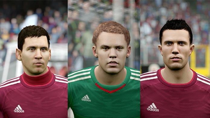 Do lado da Adidas, Messi, Neuer, Van Persie e Suárez lideram a equipe (Foto: Reprodução/Murilo Molina)