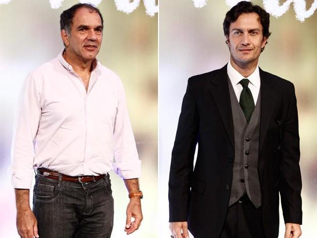 Humberto Martins e Gabriel Braga Nunes (Foto: Em Família/ TV Globo)