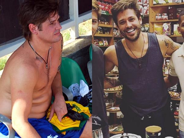 Dado Dolabella antes e depois (Foto: Reprodução/Instagram)