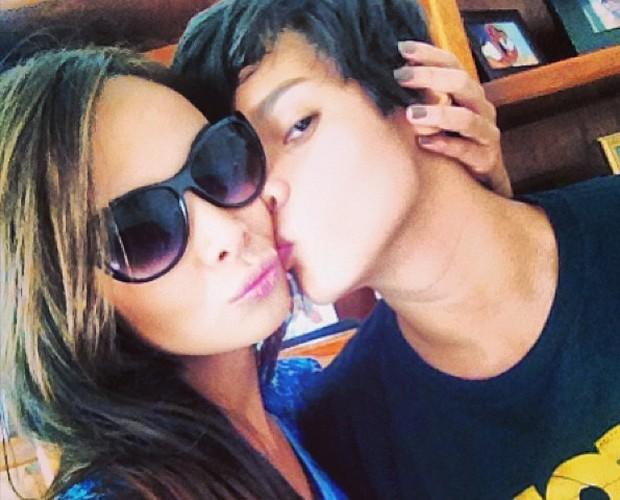 """Nakamura sobre o filho: 'O melhor beijo do mundo""""' (Foto: Arquivo Pessoal)"""