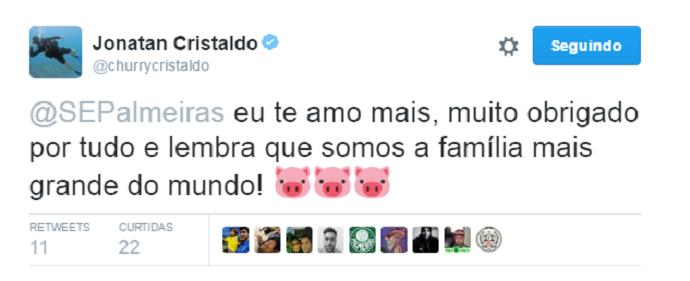 Cristaldo Palmeiras (Foto: Reprodução/Twitter)