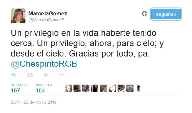 Marcela Gomez (Foto: Reprodução/Twitter)